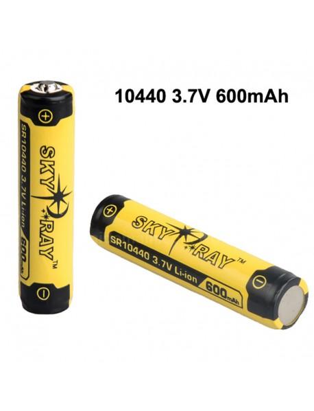 SKY RAY SR10440 3.7V 600mAh Protected Rechargeable   Li-ion 10440 Battery - 2 pcs
