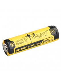 SKY RAY SR14500 3.7V 900mAh Protected Rechargeable Li-ion 14500 Battery - 2 pcs