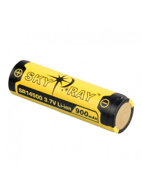 SKY RAY SR14500 3.7V 900mAh Protected Rechargeable Li-ion 14500 Battery - 2 pcs