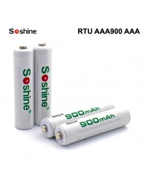 Soshine RTU AAA900 AAA 1.2V 900mAh Rechargeable NI-MH AAA Battery - 4 pc