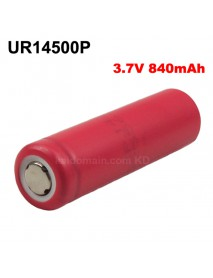 UR14500P 3.7V 840mAh Rechargeable Li-ion 14500 Battery without PCB