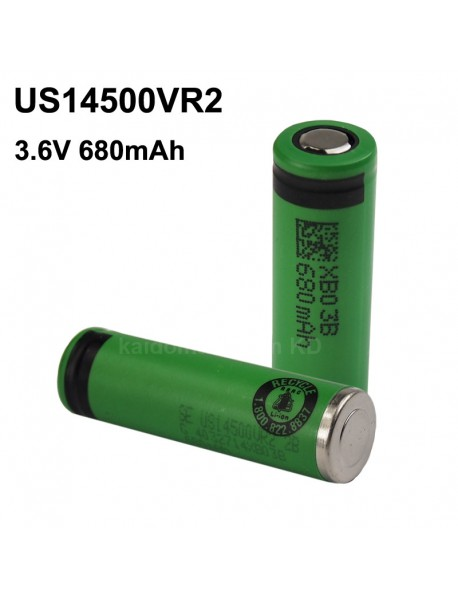 US14500VR2 3.6V 680mAh Rechargeable Li-ion 14500 Battery without PCB