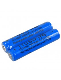 TrustFire TR 14650 3.7V 1600mAh Li-ion Rechargeable Battery with PCB (Pair)