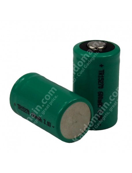 TrustFire TR15270 15270 CR2 3.0V 600mAh Rechargeable 15270 Battery (2 pcs)