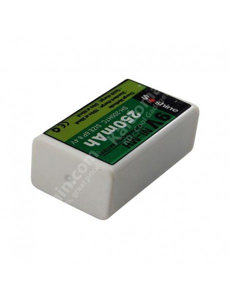 Soshine SH-200H7C 8.4V 250mAh 6F22 9V Ni-MH Rechargeable Battery ( 1 pc )