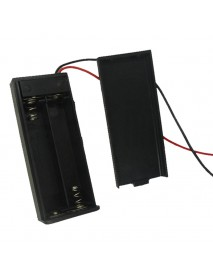 2 x AAA Battery Holder Case with Cover and Switch