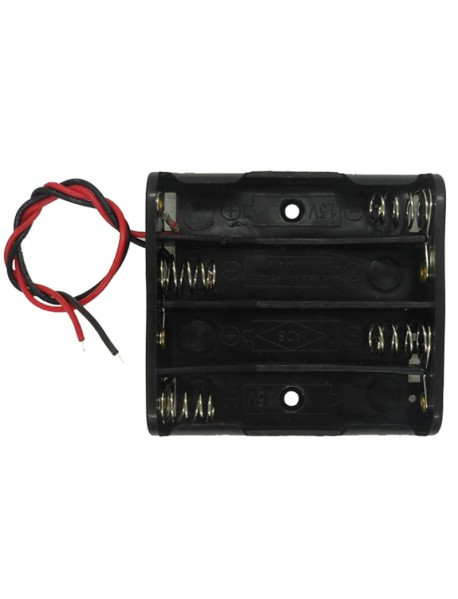 4 x AAA Battery Holder Case with Leads
