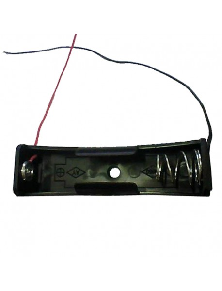 DIY 1 x 18650 Battery Holder with Leads - Black (1 pc)