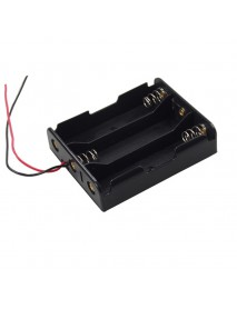 DIY 3 x 18650 Series 11.1V Battery Holder with Leads - Black (1 pc)