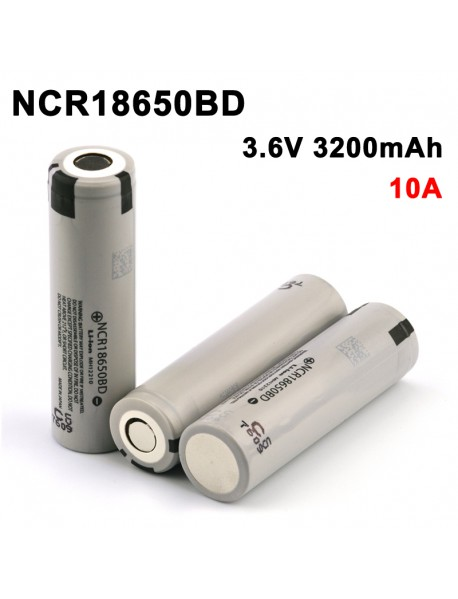 NCR18650BD 3.6V 3200mAh Rechargeable Li-ion 18650 Battery without PCB