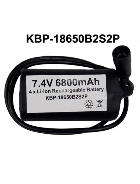 KBP-18650B2S2P 7.4V 6800mAh 4 x NCR18650B High Quality Rechargeable 18650 Li-ion Battery Pack