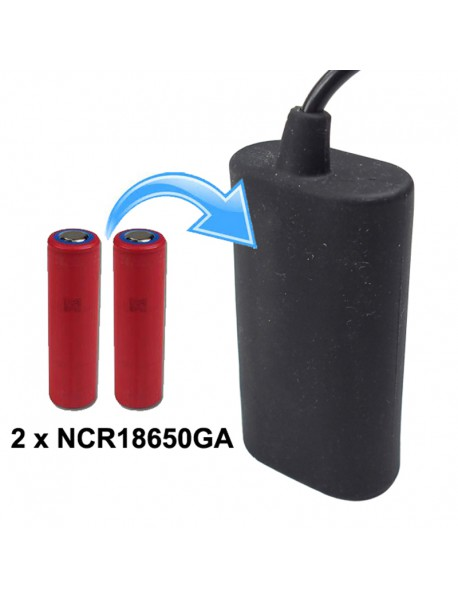 KBP-18650GA2S1P 7.4V 3500mAh 2 x NCR18650GA Rechargeable 18650 Li-ion Battery Pack   with 60cm Cable