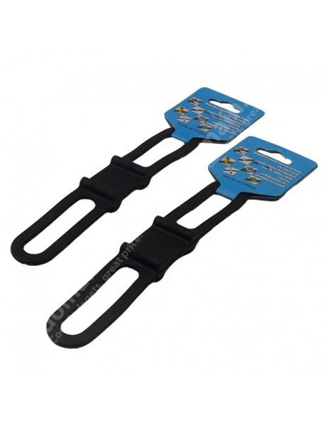 KLC-9105 Bike Elastic Silicone Fixing Bandage (2 pcs)