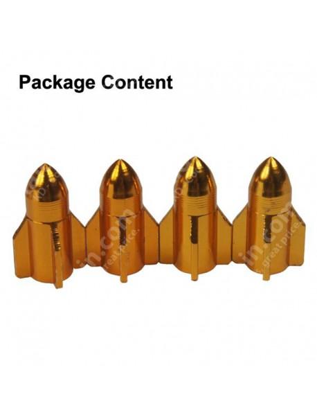 Universal Rocket Style Aluminum Alloy Valve Caps(4 pcs)