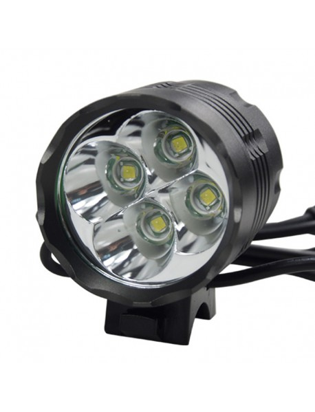 4 x Cree XM-L T6 4-Mode Bicycle Light With Charger and 6 x 18650 Battery Pack