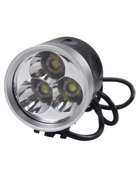 3 x Cree XM-L2 U2 Stepless Adjusted Bicycle Light with Battery Set and Charger