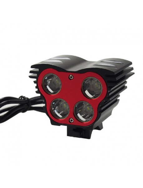 4 x Cree XM-L2 U2 LED 4-Mode 5000 Lumens Bike Light (Battery Pack not Included)