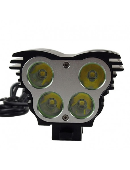 4 x Cree XM-L2 U2 LED 4-Mode 5000 Lumens Bike Light (Battery Pack not Included)