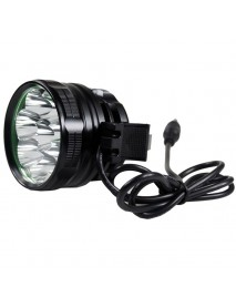 8 x Cree XM-L2 U2 LED 5-Mode 8000 Lumens Bike Light (Battery Pack not Included)
