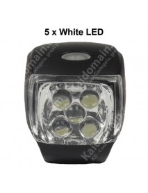 KXC-761 5 x White LED 3-Mode Bike Light - Black ( 3xAAA )