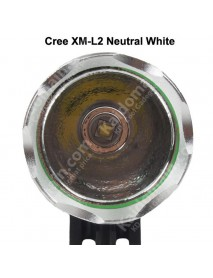 Cree XM-L2 U2 3C Neutral White 4500K-5000K 4-Mode 1000 Lumens Bike Light - Grey (1 pc)