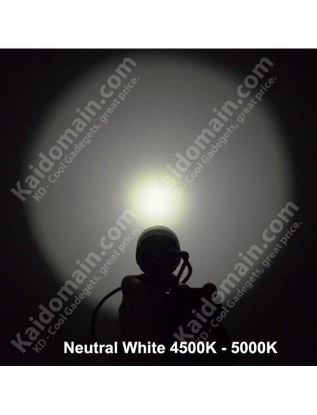 Cree XM-L2 U2 3C Neutral White 4500K-5000K 4-Mode 1000 Lumens Bike Light - Grey (1 pc)