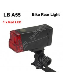 LB A55 1 x LED 2-Mode Red Light Safety Bike Rear Light