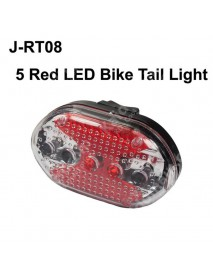 J-RT08 5 x LED 7-Mode Red Safety Bike Tail Light with Mount - Red ( 2xAAA )