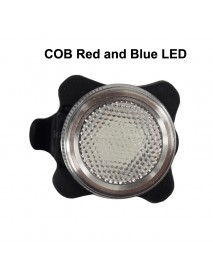 HJ-030 COB Red and Blue LED 50 Lumens 5-Mode USB Rechargeable Bike Tail Light ( 1 pc )