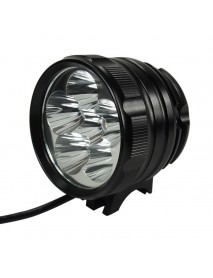 KD D77L2 6 x Cree XM-L2 U2 LED 3-Mode 6000 Lumens Bike Light with Battery Pack and Charger
