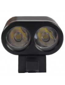 KD 2 x Cree XM-L2 U2 4+10-Mode 2200 Lumens Bike Light - Black