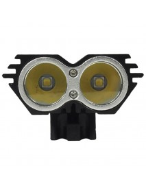 Genuine SolarStorm X2 2 x Cree XM-L2 U2 Neutral White 3C 4-Mode 2000 Lumens Bike Light - Black
