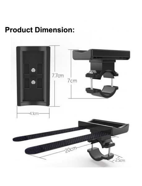 P11 Universal Bike Speaker Mount Flashlight Holder (1 PC)