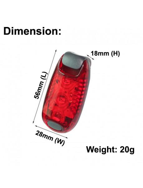 CZ-13 SMD 3 x LED Light 3-Mode Bike Tail Light (1 pc)