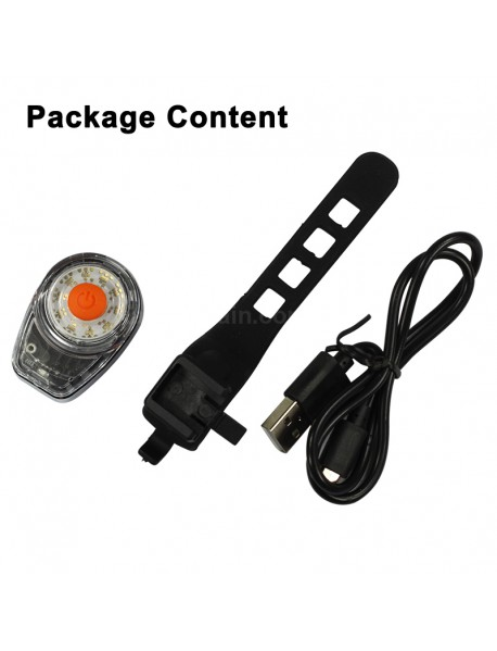 FY-309 High Power COB Multi-color 4-Mode USB Rechargeable Bike Tail Light ( 1 pc )