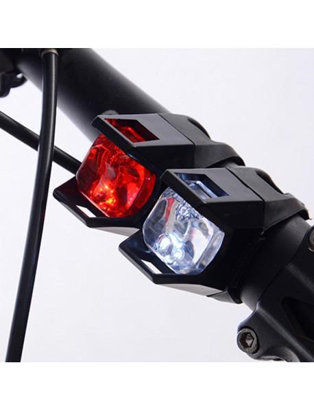 DC-007 Bike White / Red Light 2-Mode Bike Tail Light ( 2xCR2032 )