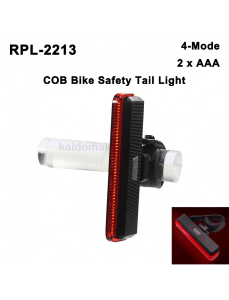 RP RPL-2213 High Power COB Red LED 4-Mode Bike Safety Tail Light ( 2xAAA )