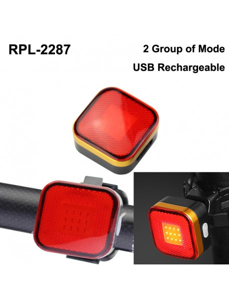 RP RPL-2287 COB Red LED 2 Group of 3-Mode USB Rechargeable Bike Tail Light (1 pc)