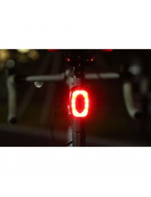 HJ-801 16 x COB Red LED 7-Mode USB Rechargeable Safety Bike Rear Light (1 pc)