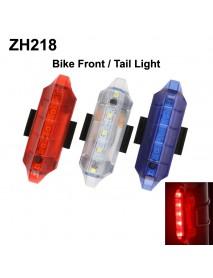 ZH218 5 x LED 4-Mode USB Rechargeable Bike Tail Light (1 PC)
