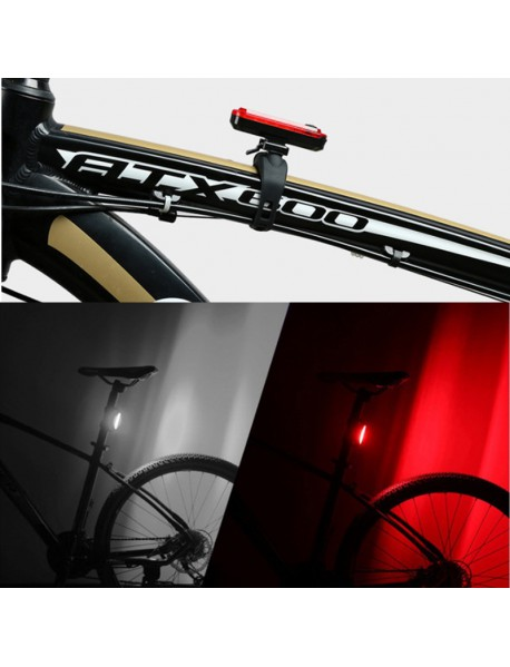 KT-056 High Power Red / White LED 4-Mode USB Rechargeable Bike Tail Light ( 1 pc )