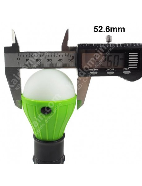 3 x 8mm 3-Mode LED Camping Lantern - Green (3 x AAA)