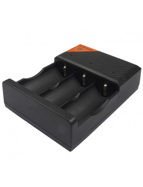 LusteFire F6 3 Slots Inellicharger Li-ion Battery Charger - Black