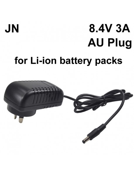 JN 5.5mm x 2.1mm DC 8.4V 3A Battery Charger for Li-ion Battery Pack (AC 100V-240V)