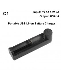 C1 Universal Portable USB Li-ion Battery Charger - Black ( 1 pc )