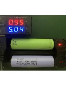 C2 Dual Slot Portable USB Li-ion Battery Charger - Black (1 PC)