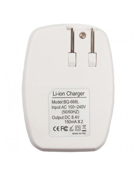NICJOY BQ-668L Smart Dual-Slot Battery Charger for 6F22(9V) Batteries - White ( US Plug )