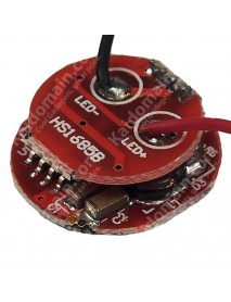 3.6V~8.4V 5-mode Flashlight Driver Circuit Board with mode memory (17mm diameter ,1A or 1.1A output current.)