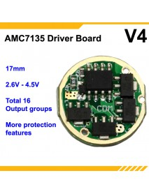 KDLITKER 7135 V4 17mm 1-Cell 16-Groups Flashlight Driver Board (1 pc)