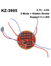 KZ-3905 46mm 7135 Triple LED 1-Cell 3-Mode Driver Circuit Board (1 pc)